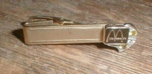 Vintage McDonald's The Arches Employee Service Tie Bar 12k Gold Filled w/Stones