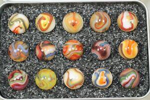 "Dave's Appalachian Swirls ""Phoenix Rising"" Box of Marbles"