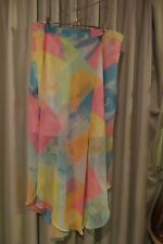 VINTAGE ~ RIVERS ~Colours Long SKIRT ~ Size 16/18 * NWT *