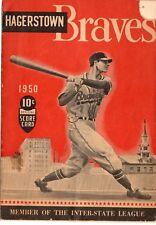 1950 Willie Mays Program Minor League Trenton #12/Age 19/4 HR/306 avg/ NY Giants
