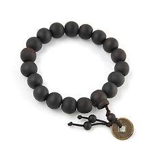 Wood Buddha Buddhist Prayer Beads Tibet Bracelet Mala Bangle Wrist Ornament New
