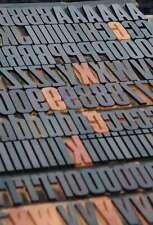 "letterpress wood printing blocks 318pcs (!!!!) - 1.77"" tall wooden type woodtype"