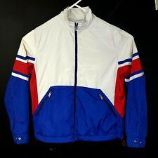 64fe62aa Zara Mens Waterproof Jacket Red Cream and Blue Raincoat Size XL