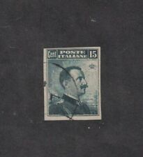 Italy 123a - Victor Emmanuel III. Imperf Single. Used. #02 ITAL123a
