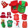 Pet Warm Clothes Christmas Gifts Santa Dog Cat Jacket Coat Shirt Puppy Apparels