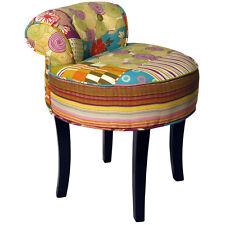 patchwork chaise Shabby Chic VINAIGRETTE AVEC BOIS PIEDS Multicolore och3538