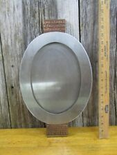 Hand made limited edition modern metal platter Judaica by Design Lab of Boston