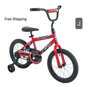 """New, Huffy 16"""" Rock It Boys Bike, Red. W/Racing Graphics & Number """"16"""". 4-6 Year"""