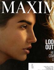 Maxim Magazine April 2015 Lily Aldridge Mads Mikkelsen Tina Kandelaki