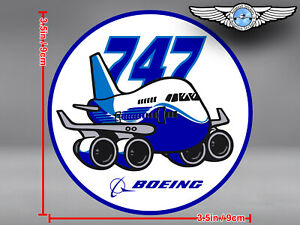 BOEING 747 B747 PUDGY STYLE ROUND DECAL / STICKER