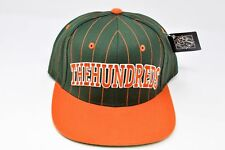 THE HUNDREDS Pinstrpes Snapback Hat Cap Green Orange Adjustable (H10) $30