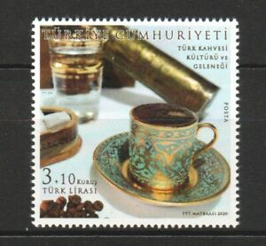 TURKEY 2020 TURKISH COFFEE CULTURE AND TRADITION COMP. SET OF 1 STAMP MINT MNH