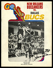 1969-70 1970 NEW ORLEANS BUCCANEER BUCS ABA PROGRAM~JIMMY JONES AUTOGRAPHED