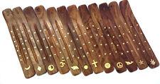 """Wholesale Set of 12 x Wooden Incense Burners Ashcatcher (Dozen) 10"""" Assotment #2"""