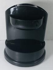 Staples Rotating 7 Storage Compartment Desk Organizer Black