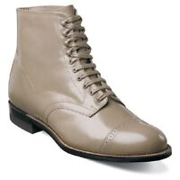 Madison Stacy Adams Mens Ankle Boot Biscuit Leather Taupe 00015-260
