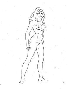 "TAARNA 1981 HEAVY METAL FILM Rotoscoping Pre-Production Art 8.5"" x 11"""