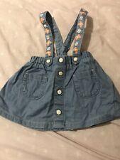 Baby Girls 3-6 Month Nutmeg Dungaree Skirt
