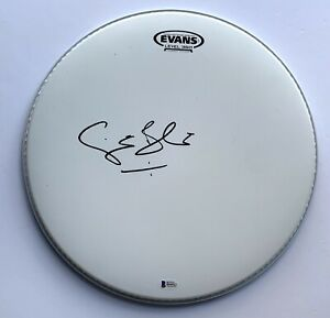 Ginger Baker signed drumhead Cream beckett coa autographed