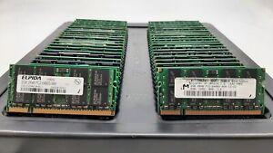 LOT 50 ELPIDA MICRON QIMONDA 2GB DDR2 PC2-6400S 800MHZ NON ECC SODIMM MEMORY RAM