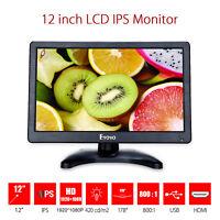 "12"" inch IPS LCD HDMI VGA AV Monitor HD IPC Display 1920*1080 for Raspberry PI"
