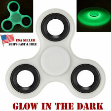 Glow in the Dark Hand Spinner Tri Fidget Focus Tool Desk Toy Relieve Anxiety EDC