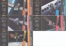 Island of Berkner Set 5 banknotes 2017 - Spaceships UNC (private issue)