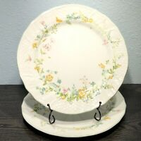 "Mikasa Renaissance Pamela D4902 Set Of 2 Dinner Plates 11"" Japan Retired 1988"