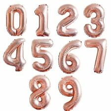 """16""""40"""" Giant Foil Number Rose Gold Helium Large Balloons Birthday Party Wedding"""