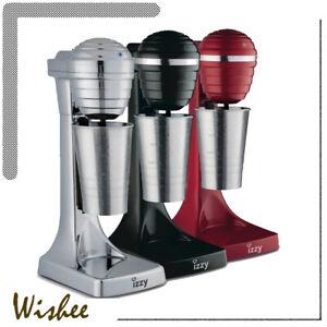 Izzy Powerful Frappe Maker 120Watts Greek Style Black Red Grey Milkshake
