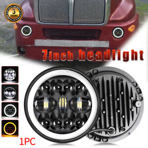 """240W 1PC 7""""Inch DOT LED Headlight HI/LO Sealed Beam DRL for Jeep Kenworth T2000"""