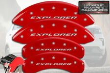 "2011-2019 Ford ""Explorer"" Front + Rear Red MGP Brake Disc Caliper Covers HD 4pc"