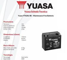 BATERÍA YUASA YTX20L-BS 12V 18AH Kymco Quad MXU - 500 cc - años: 2005 > 2013
