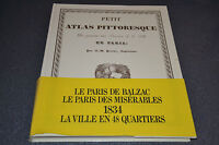 PETIT ATLAS PITTORESQUE (1835) - 48 QUARTIERS DE PARIS - A.-M. PERROT - 1987