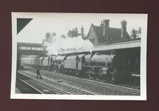 Lancashire Lancs LANCASTER Railway Station 45248&46102 + train 1960 photograph