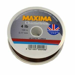 New MAXIMA Chameleon Fishing Line 100m 2.5, 3, 4, 5, 6, 8 lb Brown Mono UK