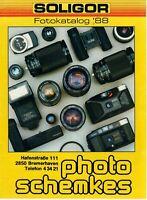 SOLIGOR - Prospekt Broschüre - Fotokatalog '88 Kameras Fotografie - B13492