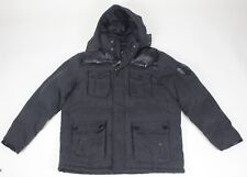 COOGI Search and Rescue Winter Coat Herringbone Black 2XL Rayon Parka Jacket