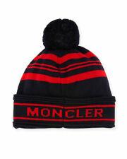 New Moncler 100% Virgin Wool Jumbo Pompom Beanie skull Hat, Made in ITALY