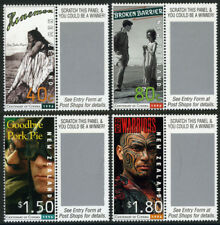 New Zealand 1379-1382, MI 1533-1536, MNH. Motion pictures, centenary, 1996