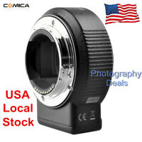 *US STOCK* Commlite ENF-E1 PRO AF Adapter For Nikon F Lens To Sony A9 A7M2 A7R3