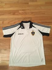 LA Galaxy MLS Adidas Climacool Formotion Men's Collared Soccer Jersey Size L