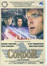 I tre giorni del Condor (1975) DVD NUOVO SIGILLATO Robert Redford. Faye Dunaway