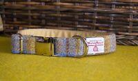 Handmade Harris Tweed Tartan Dog Collars Tweed Collar For Dogs And Puppies