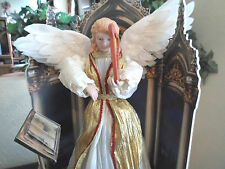 Animated Musical Christmas Angel with Harp Motionette Display Figure