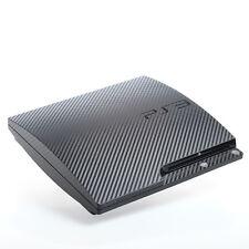 Carbone Noir PS3 slim texturé peaux-full body wrap-Autocollant Decal couvrir