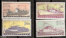 Czechoslovakia yv cekoslovensko # 1062/1065 mnh set. boats/ships