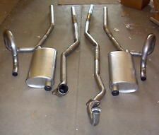 1973 OLDS CUTLASS & F-85 DUAL EXHAUST SYSTEM, ALUMINIZED, WITH 350 ENGINES