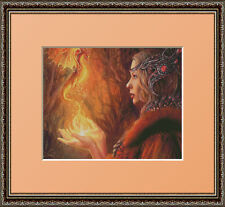 MYSTIC MAIDEN WITH DRAGON~COUNTED CROSS STITCH PATTERN ONLY