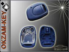 RENAULT 1 BUTTON REMOTE KEY FOB CASE BLUE (CLIO MEGANE LAGUNA KANGOO TWINGO)